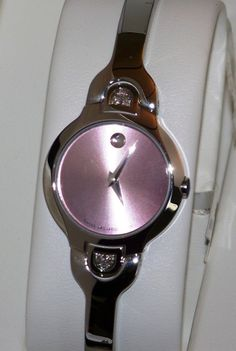 New womens Ladies Authentic Movado kara pink 0605606 factory Diamond Watch. $599.