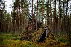 Elämäntapa intiaanien hylätty leiri, Kittilä http://www.raymond.fi/#!metsaan-meni