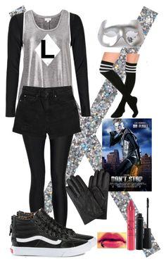 """DIY Halloween costume: Dr Fluke"" by crazydirectionergirl ❤ liked on Polyvore featuring moda, Boohoo, Witchery, Monki, Masquerade, Vans, MAC Cosmetics e tarte"