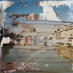 gerhard richter paint on photographs Contemporary Abstract Art, Abstract Landscape, Landscape Paintings, Modern Art, Art Paintings, Painting On Photographs, Gerhard Richter Painting, Art Sculpture, Action Painting