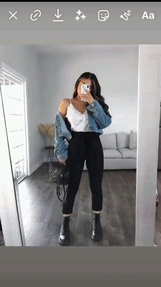 Trendy Fall Outfits, Winter Fashion Outfits, Retro Outfits, Cute Casual Outfits, Simple Outfits, Stylish Outfits, Summer Outfits, Cute Outfits With Flannels, Outfits With Boots