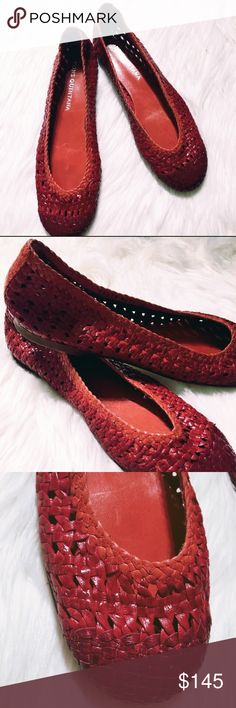 🔥FLASH SALE🔥 NWOT Handwoven Leather Ballet Flats Never worn. I do not have their box but will send them in a different shoebox. Handwoven leather ballet flats. Red & orange. Size 40, which translates to a US 10. They run a bit smaller than average. They are by designer Pons Quintana in Spain. These shoes retail for over $200! Pons Quintana Shoes Flats & Loafers