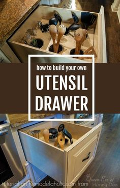 [ Diy Upright Utensil Drawer Organizer Via Remodelaholic Small Kitchen Cabinets Drawers Customized Utensils And Spices ] - Best Free Home Design Idea & Inspiration Utensil Drawer Organization, Diy Drawer Organizer, Drawer Organisers, Kitchen Organization, Kitchen Storage, Kitchen Organizers, Organization Ideas, Storage Ideas, Cabinet Storage