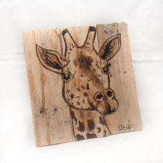 Giraffe Painting Baby Nursery art Giraffe art by SimplyPallets