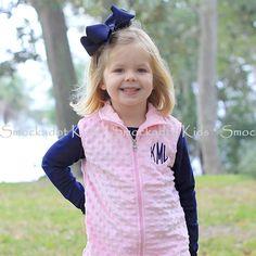 12/10/12  Light Pink Minky Vest - LOVE!!!!!!!!!!!!