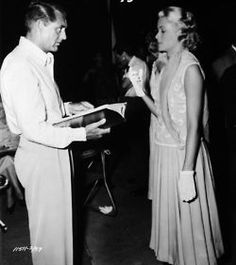 Cary Grant and Grace Kelly photographed behind the scenes of To Catch a Thief (1955)