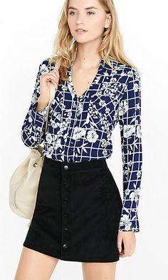 original fit floral grid print portofino shirt