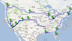 My dream USA road trip, minus a few key places, but if I ever have the time this will be done!