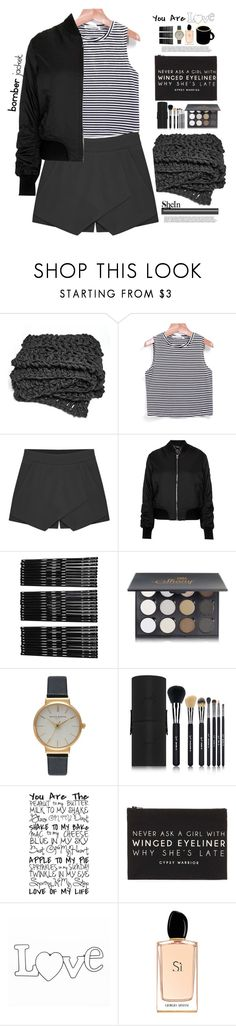 """""""Untitled #877"""" by mycherryblossom ❤ liked on Polyvore featuring Topshop, Monki, Shany, Olivia Burton, Sigma Beauty, Forever 21, Giorgio Armani, women's clothing, women and female"""