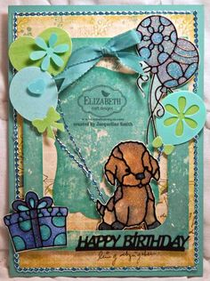Jackie Smith created this super cute Birthday card for all dog lovers out there. She used a combination of dies, the Puppies and Gifts Peel-offs in black and Cool Diamond Silk Microfine Glitter. For instructions, click here: http://ecraftdesignsblog.com/2014/10/happy-birthday/