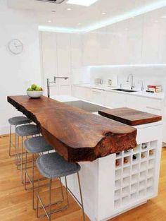 bartafel aan keukenblad