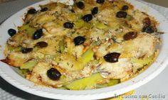 Alici e patate con olive in tortiera