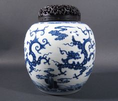 A Blue and White Globular Jar, China, 18th c.