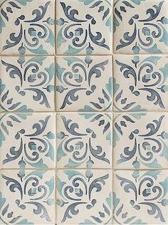 Tiles from Walker Zanger - handpainted