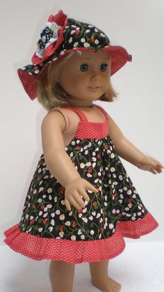 black & red calico  American girl doll