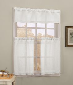 Simply Window Nora Valance, White