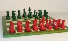 Green & Red chess set