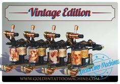 Vintage Edition - Special Liner Machines Choose yours!  fb.com/goldentattoomachine  #GoldenTattooMachine #Diamond #Elyttica #Vintage #Coils #VintageCoils #Tattoo #SpecialLineMachines #4costumcoils
