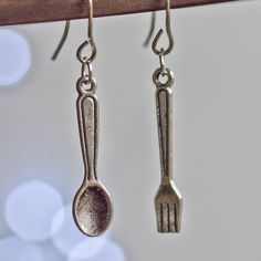 Cutlery earrings - fancy sweet quirky weird fork spoon yum. $4.20, via Etsy.