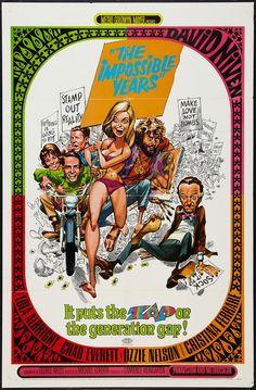 The Impossible Years~(1968) Stars: David Niven, Lola Albright, Chad Everett, Ozzie Nelson, Cristina Ferrare ~ Director: Michael Gordon