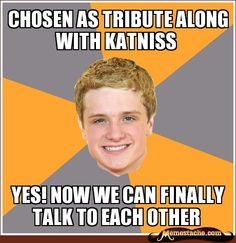 chosen as tribute along with katniss