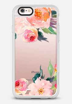 Watercolor Floral Detail Pink Transparent iPhone 6s case by @Chalkfulloflove | @Casetify