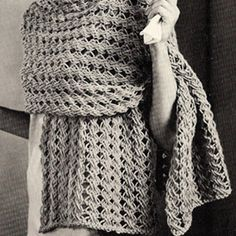 Knit Bulky Stole ...I want this as a crochet pattern!