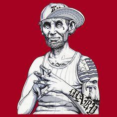 """Gangsterham Lincoln"" T-Shirts & Hoodies by Nirvana10588 | RedBubble"