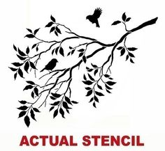 Wall Stencil Birds on a Branch - Stencils for DIY decor - Better than decals. $39.95, via Etsy.