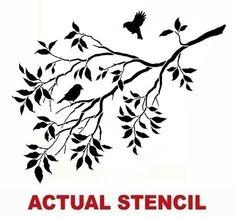 Wall Stencil Birds on a Branch Stencils by CuttingEdgeStencils