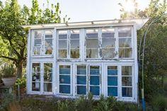 Gewächshaus aus alten Fenstern