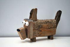 DOG compleet made of drift Wood at Dijkstijl.com / 150,- euro