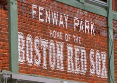 Boston Red Sox Fenway Park Photograph Painted Brick Iconic Sign - 5x7 matted to 8x10 ready to frame. $15.00, via Etsy.