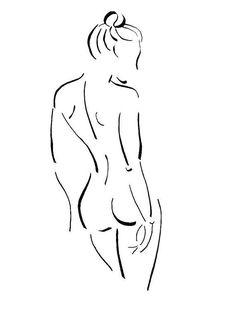 Original Nude Drawing Bedroom Art Bathroom Art by…