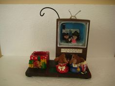 Retired RARE Yankee Candle Night Before Christmas TV Mouse Hanging Tarts Warmer