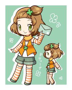 Tina - Harvest Moon: A New Beginning Fan Art - Fanpop Rune Factory, Moon Lovers, Harvest Moon, Anime Chibi, New Beginnings, Kawaii, Fan Art, Seasons, Video Games