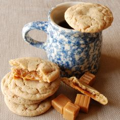 Caramel stuffed apple cider cookies: yes, please — now!