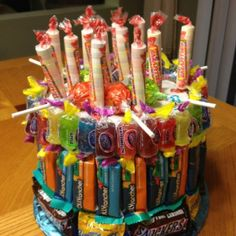 Candy birthday cake... Awesome!