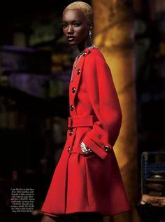 Herieth Paul  Runway Model, beautiful black model, fashion models.