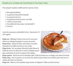Practice your French listening and translation with this traditional recipe for 6th January (for beginners/intermediate)