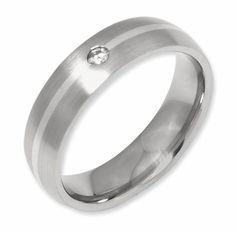 Diamond Wedding Bands in Titanium for Him