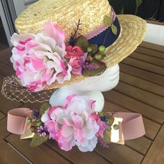 Un favorito personal de mi tienda Etsy https://www.etsy.com/es/listing/475601075/canotier-y-cinturon-color-rosa-con