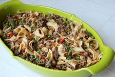 Skinny Beef Casserole | Skinny Mom | Where Moms Get the Skinny on Healthy Living Ww Recipes, Dinner Recipes, Cooking Recipes, Healthy Recipes, Healthy Foods, Dinner Ideas, Weeknight Recipes, Fat Foods, Side Recipes