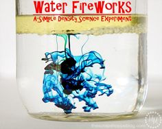 Water Fireworks Science Experiment