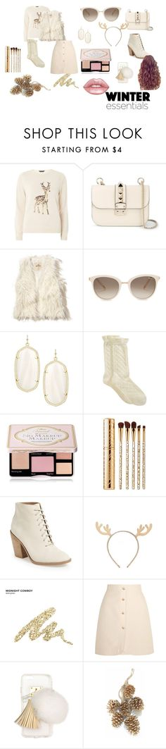 """Winter Wonderland No.1"" by stylishsyd on Polyvore featuring Dorothy Perkins, Valentino, Hollister Co., Chopard, Kendra Scott, Hue, Too Faced Cosmetics, Sephora Collection, Kelsi Dagger Brooklyn and Forever 21"