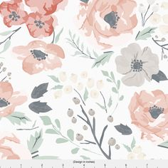 Baby Girls Watercolor Flower Fabric - Soft Meadow Floral By Sweeterthanhoney - Girl Nursery Decor Cotton Fabric By The Yard With Spoonflower by Spoonflower on Etsy https://www.etsy.com/listing/497833122/baby-girls-watercolor-flower-fabric-soft