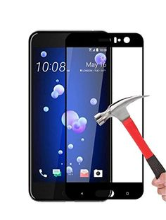 From 5.99:Htc U11 Screen Protector [3d Glass] Dn-technology Htc U11 Tempered Glass Screen Protector [hd Clear] [anti-scratch] 9h Hardness 0.33mm Easy To Install Bubble-free Screen Protector For Htc U11 [compatible With Htc U11 Case] (black)