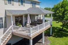Covered Porch With Hip Roof In Harrisburg Pa Decks With Regard To Hip Roof Patio Cover Covered Deck Designs, Patio Deck Designs, Covered Decks, Patio Design, Covered Porches, Porch Designs, Patio Plans, Pergola Plans, Pergola Kits
