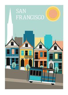 San Francisco Poster Print Travel Print Art by NordicDesignHouse