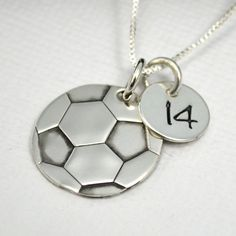 5b8ee70158 Soccer Ball Necklace for Mom or Player